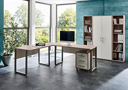 b rom bel arbeitszimmer komplett set office edition set 3 in sandeiche wei m bel24. Black Bedroom Furniture Sets. Home Design Ideas