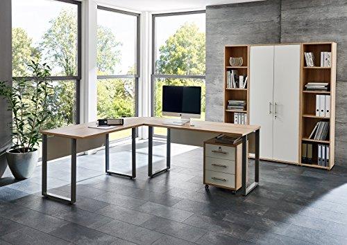 Büromöbel komplett Set Arbeitszimmer OFFICE EDITION (Set 3) in Eiche Sonoma/Weiß