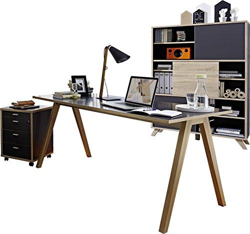 Gw helsinki b rom bel set schreibtisch rollcontainer for Schreibtisch hoch