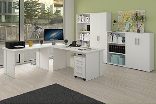 Komplettes Arbeitszimmer Büro Möbel Set in Weiss