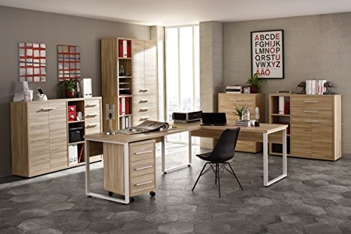 komplettes arbeitszimmer b rom bel komplett set plus maja set in eiche natur set 14 m bel24. Black Bedroom Furniture Sets. Home Design Ideas