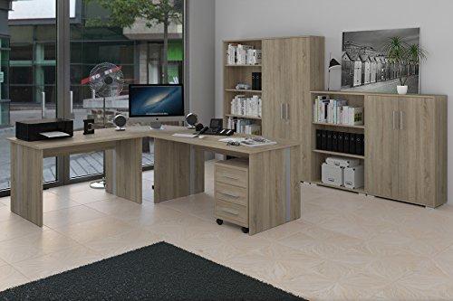 Möbel Pracht Bürozimmer-Set, Holz, sonoma, 188 x 37 x 20 cm