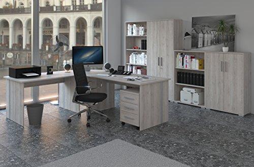 Phoenix Sonoma Sorrento Büro-8tlg. Bürozimmer, Büromöbel, Arbeitszimmer, Büroeinrichtung, Holz, 120 x 80 x 210 cm