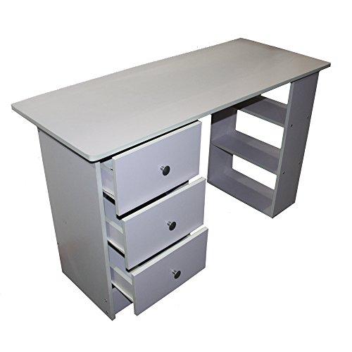 Redstone schreibtisch 3 schubladen 3 regale schwarz for Schreibtisch ohne schubladen