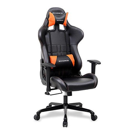 Songmics Racing Stuhl Bürostuhl Schreibtischstuhl