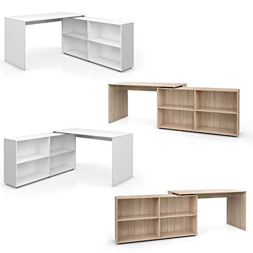 Winkelschreibtisch flexplus 90 180 drehbar for Schreibtisch drehbar