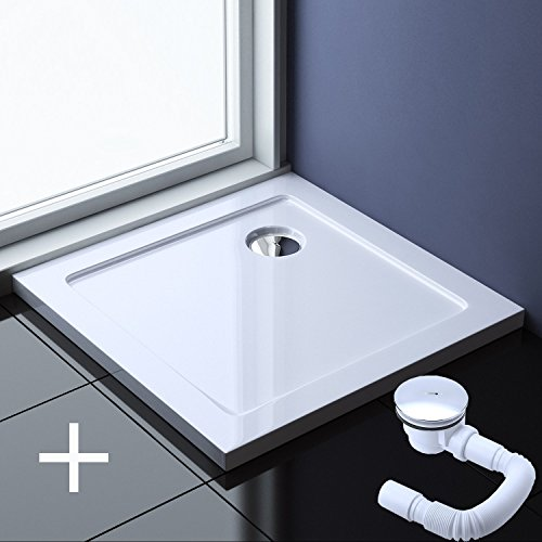 70x70x4 cm Design Duschtasse Faro1 in Weiß inkl. AL01, Duschwanne, Acrylwanne
