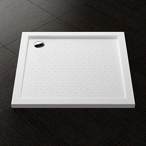 90x90x4 cm Design Duschtasse Lucia01AR mit Anti-Rutsch Profil in Weiß, Duschwanne, Acrylwanne