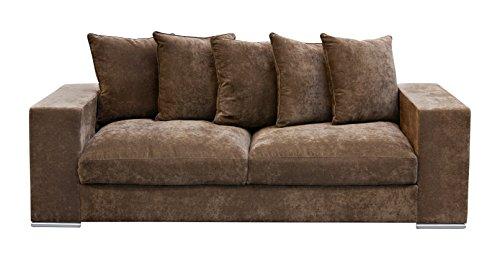 amaris elements sessel 39 paul 39 samt aus mikrofaser braun. Black Bedroom Furniture Sets. Home Design Ideas