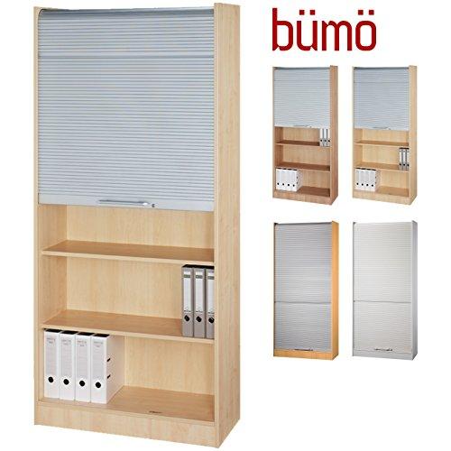Bümö® Aktenschrank mit Rollladen | Rollladenschrank für Aktenordner | Büroschrank für Akten | Hammerbacher Büromöbel | Rolladenschrank in 5 Farben