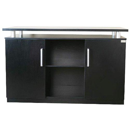 Büroschrank Bueromoebel Holz Orly schwarz Aktenschrank von Jet-Line