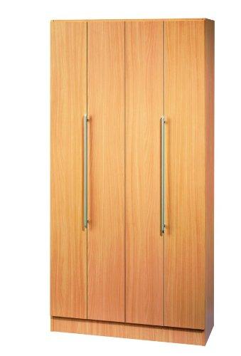 Büroschrank Hammerbacher Solid 100 cm 5 Fächer Falttüren Holz Dekor wählbar, Dekor:Buche