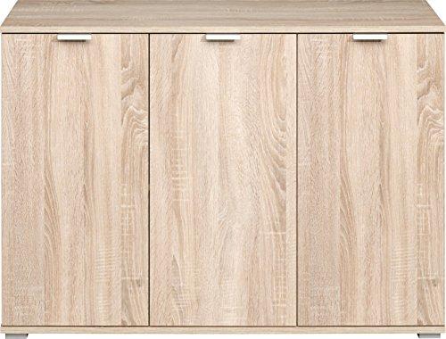 CS Schmalmöbel Kommode, Holz, Eiche, 107 x 76 x 35 cm