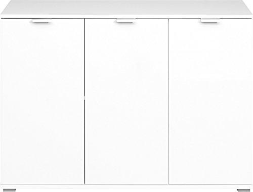CS Schmalmöbel Kommode, Holz, Weiß, 107 x 76 x 35 cm