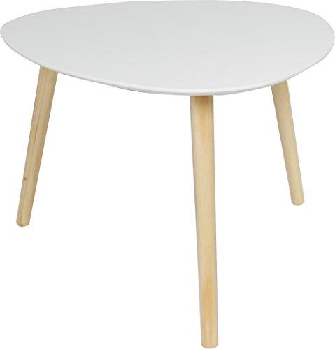 couchtisch beistell tisch im retro stil sofatisch mit drei beinen 55x55cm weiss matt m bel24. Black Bedroom Furniture Sets. Home Design Ideas