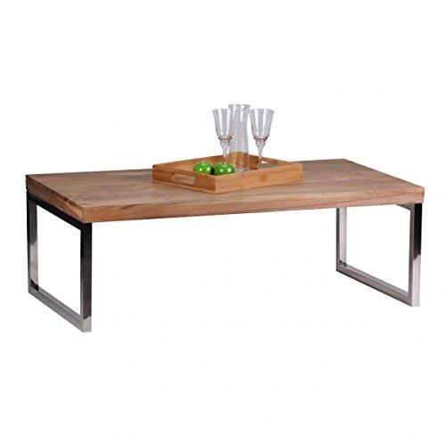 Couchtisch massiv holz akazie 120 cm breit wohnzimmer for Tisch design 24