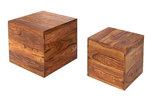 Dunord design beistelltisch couchtisch jakarta 2er design for Design couchtisch 2er set
