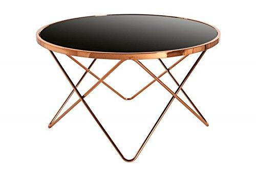 Dunord design couchtisch beistelltisch paris 85cm art deco for Beistelltisch design glas
