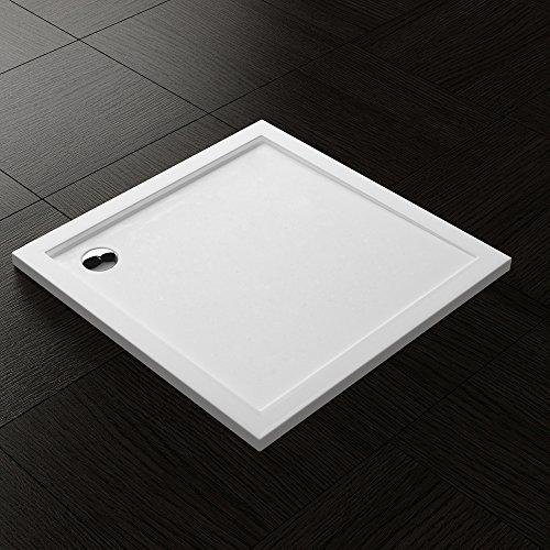 Duschwanne Duschtasse Lucia/Faro in weiß Form: Quadratisch in verschiedenen Größen optional mit Ablaufgarnitur und Antirutsch