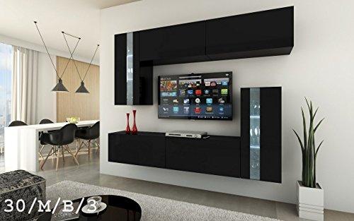 future 30 wohnwand anbauwand m bel wand schrank tv schrank wohnzimmer wohnzimmerschrank matt. Black Bedroom Furniture Sets. Home Design Ideas