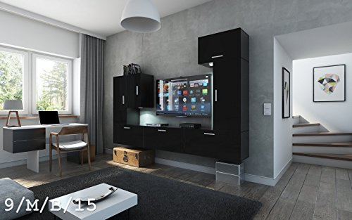 future 9 wohnwand anbauwand wand schrank tv schrank m bel wohnzimmer wohnzimmerschrank matt wei. Black Bedroom Furniture Sets. Home Design Ideas