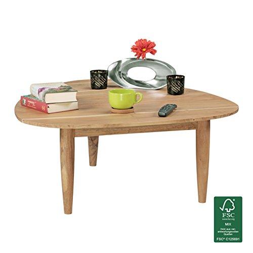 Finebuy couchtisch aus massivholz akazie nierentisch for Design lounge tisch