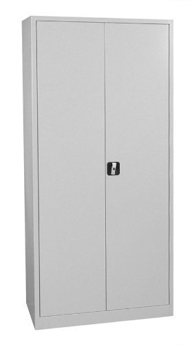 Flügeltürschrank Schrank Stahl Stahlblech Lagerschrank Aktenschrank Büroschrank Werkzeugschrank 4 Fachböden/4,5 OH/Maße: 1800x800x380mm 530330 kompl. montiert