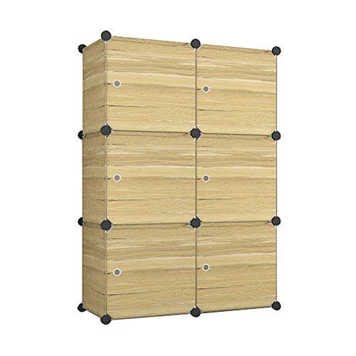 MCTECH® DIY Aktenschränke Regalsystem Steckregal Kleiderschrank Faltschrank Garderobe Schuhregal Kunststoffboxen mit Steckregal Stecksystem