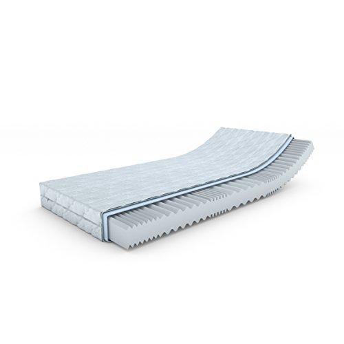 MSS® Aqua VitalFoam® Matratze / Kern Kaltschaum mit versteppten Klimafaserbezug waschbar bis 60 Grad OEKO-TEX® 100 geprüft /