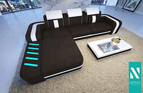 nativo designer leder mix sofa space mini mit led. Black Bedroom Furniture Sets. Home Design Ideas