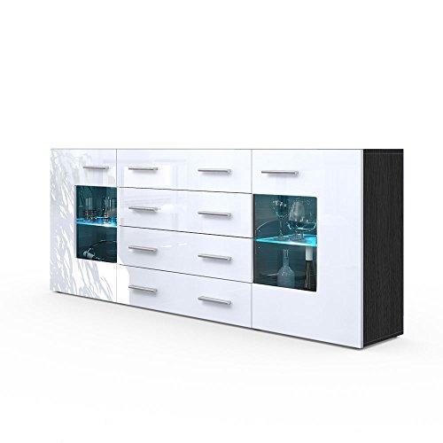 sideboard kommode gr mitz v2 korpus in schwarz matt. Black Bedroom Furniture Sets. Home Design Ideas