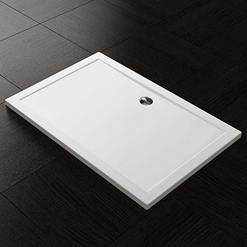 TBH: 75x80x4cm Design Duschtasse Faro2 in Weiß, Duschwanne, Acrylwanne