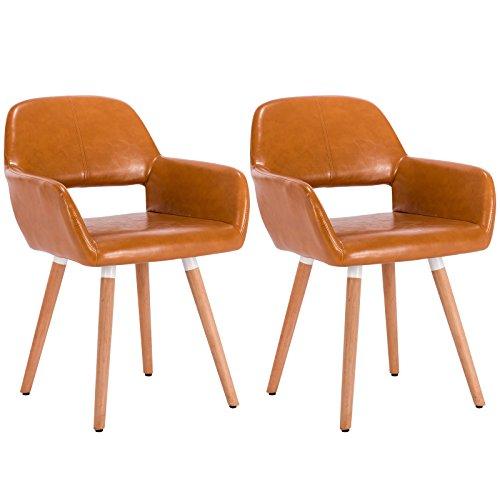 woltu 2x esszimmerst hle essgruppe wohnzimmerst hle k chenst hle stuhlgruppe mit arm und. Black Bedroom Furniture Sets. Home Design Ideas