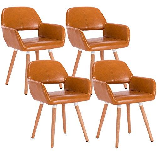 woltu 4er set esszimmerst hle k chenst hle wohnzimmerst hle design stuhl mit armlehne und. Black Bedroom Furniture Sets. Home Design Ideas