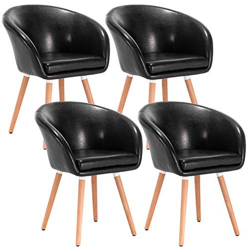 woltu 4er set esszimmerst hle stuhlgruppe k chenst hle wohnzimmerst hle polsterst hle design. Black Bedroom Furniture Sets. Home Design Ideas