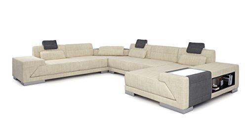 Wohnlandschaft xxl sofa couch stoffsofa modern design for Echtleder sofa u form