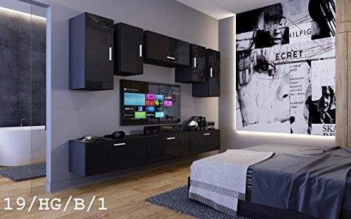Wohnwand future 19 moderne wohnwand exklusive mediambel tv for Exklusive wohnwand