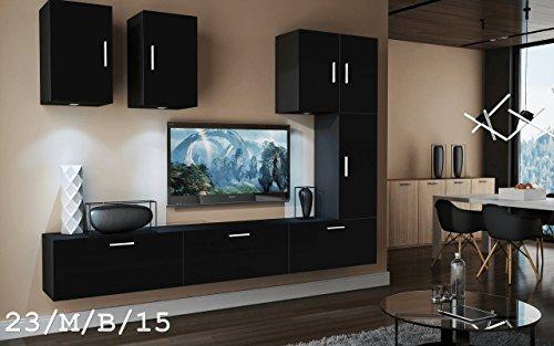 wohnwand future 23 anbauwand moderne wohnwand exklusive mediam bel tv schrank beleuchtung led. Black Bedroom Furniture Sets. Home Design Ideas