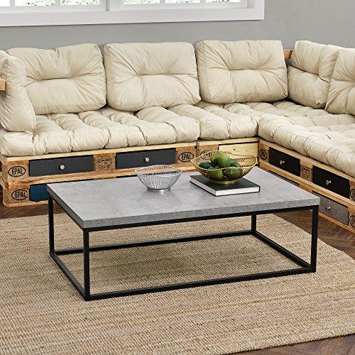Couch tisch design mdf metall gestell for Tisch design 24