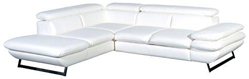 Cotta C733892 D200 Polsterecke Lederimitat, weiß, 223 x 265 x 74 cm