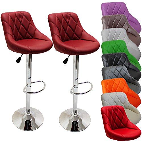 2er set barhocker barstuhl 10 farben w hlbar 360 frei drehbar sitzh henverstellung 60 80cm. Black Bedroom Furniture Sets. Home Design Ideas
