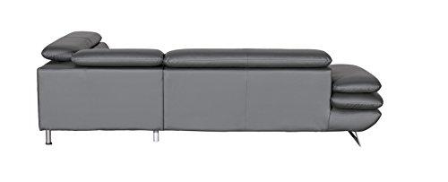 Cotta C733895 D208 Polsterecke Lederimitat, grau, 265 x 223 x 74 cm