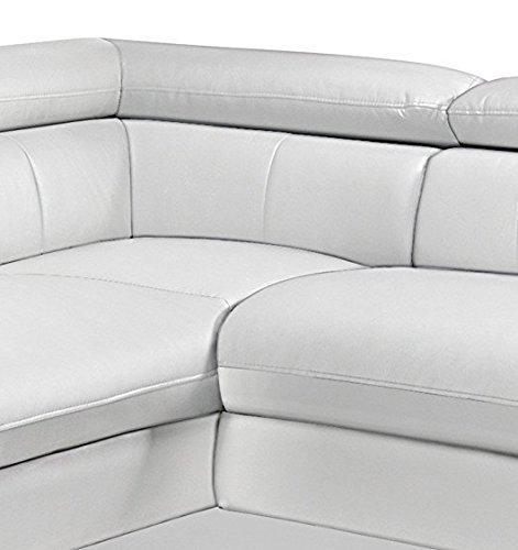 Cotta C130661 D200 Polsterecke mit Armteilverstellung und Kopfteilverstellung, inklusive Bettfunktion, Kunstleder, 228 x 262 cm, weiß
