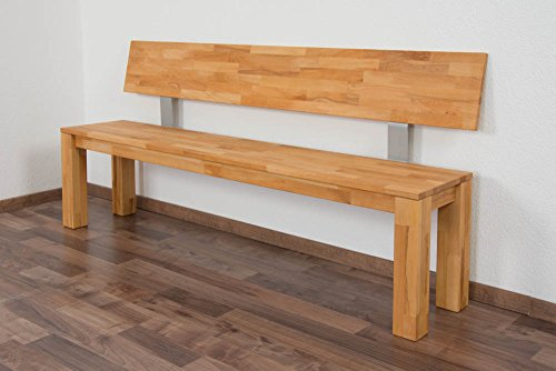 Bank Wooden Nature 135 Buche massiv - 180 - 35 cm (L - B)