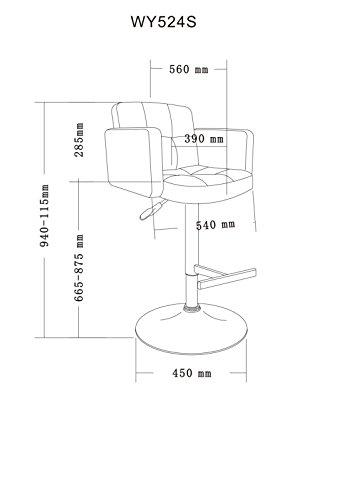 barhocker kunstleder barstuhl mit lehne farbauswahl. Black Bedroom Furniture Sets. Home Design Ideas