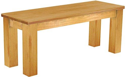 Brasilmöbel Sitzbank 'Rio Classico' 110 cm, Pinie Massivholz, Farbton Honig
