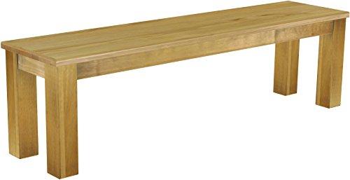 Brasilmöbel Sitzbank 'Rio Classico' 160 cm, Pinie Massivholz, Farbton Brasil