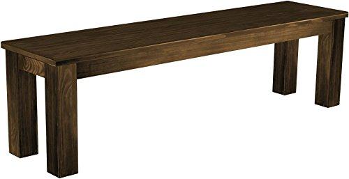 Brasilmöbel Sitzbank 'Rio Classico' 160 cm, Pinie Massivholz, Farbton Eiche antik