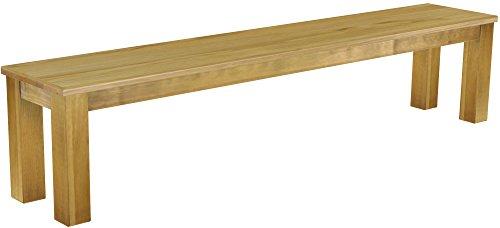 Brasilmöbel Sitzbank 'Rio Classico' 208 cm, Pinie Massivholz, Farbton Brasil