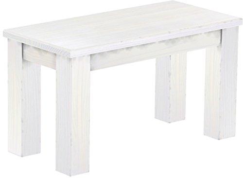 Brasilmöbel Sitzbank 'Rio Classico' 80 cm, Pinie Massivholz, Farbton Weiß